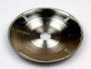 concave electroplated blade marble