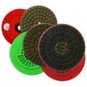 polishing pad snail lock diamond resin edge