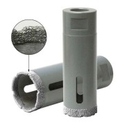 vacuum brazed diamond core bit granite stone dry